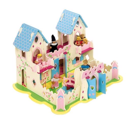 Image of   Dukkehus, Prinsesse slot i træ